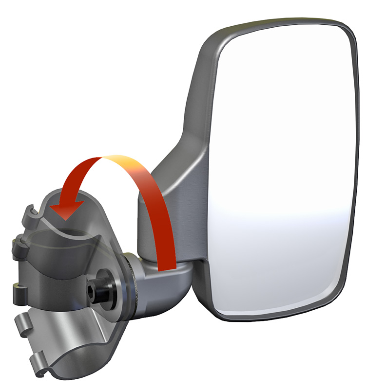 Utv Side View Mirror Pair Abs Polaris Pro Fit And