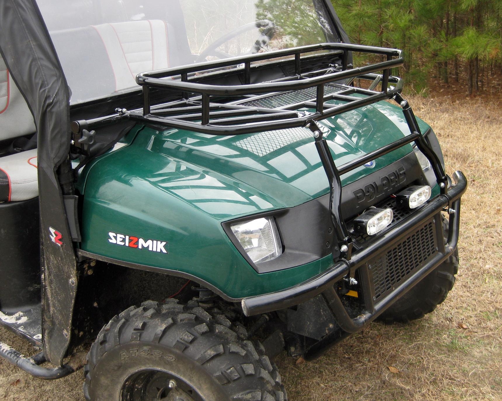 Hood Rack Polaris Round Tube Ranger 2002 2008 Seizmik