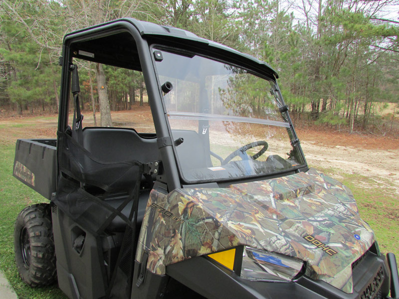 Seizmik Side by Side Clear Versa Fold Front Windshield for 15-17 Polaris Ranger