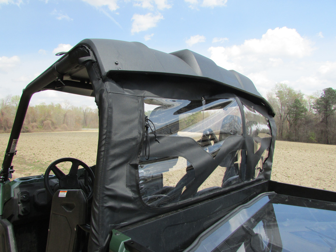 Soft Rear Dust Window Panel Yamaha Viking Seizmik Install Jeep Home Panels