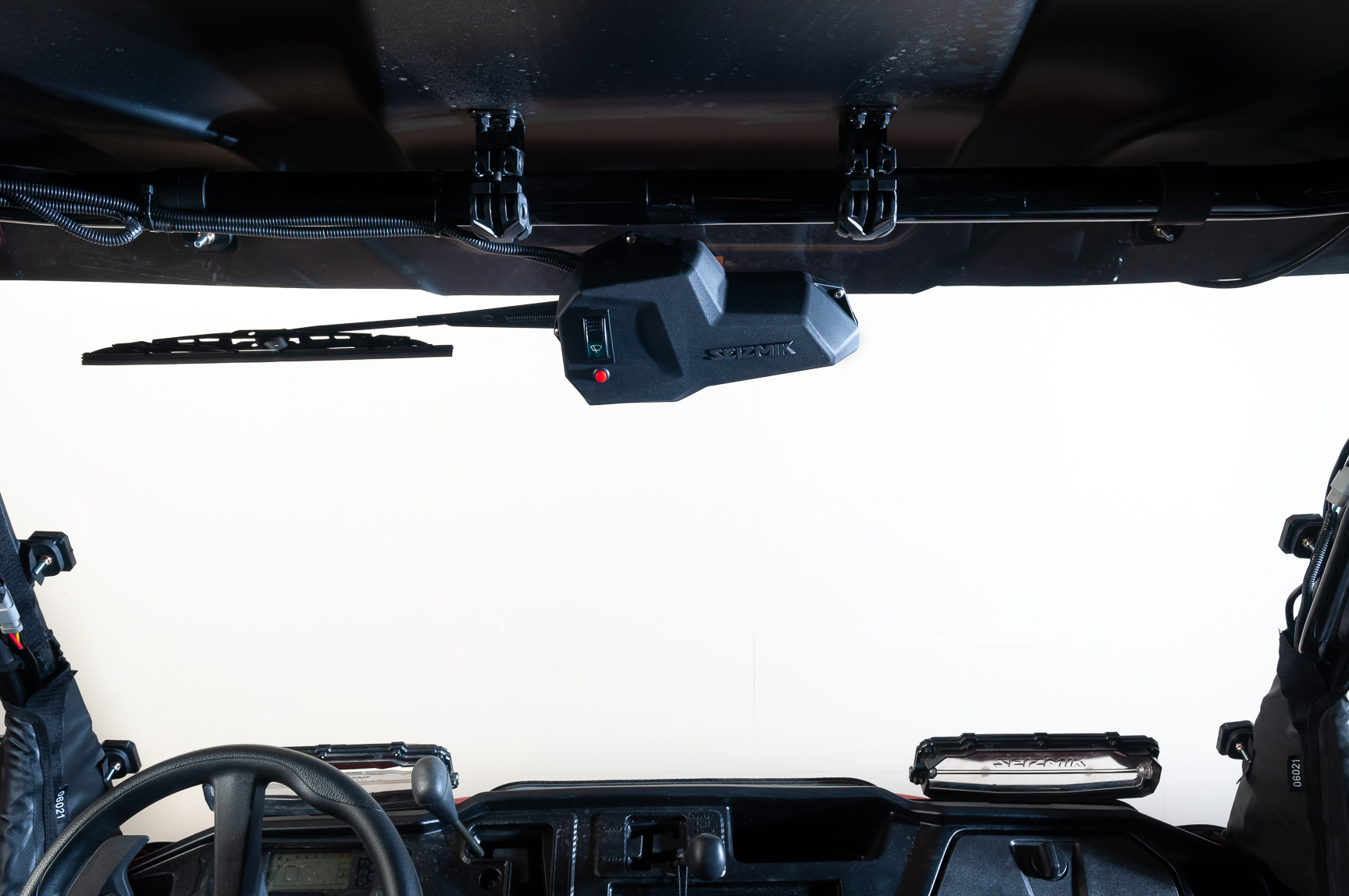 KEMIMOTO UTV Manual Hand Operated Windshield Wiper Assembly Compatible with Polaris Ranger RZR 900 1000 General Can am Maverick X3 Commander Defender Pro