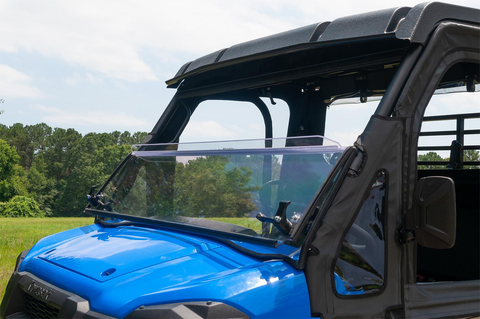 Windshield Versa Fold Scratch Resistant Poly Kawasaki Mule Pro Fx Fxt
