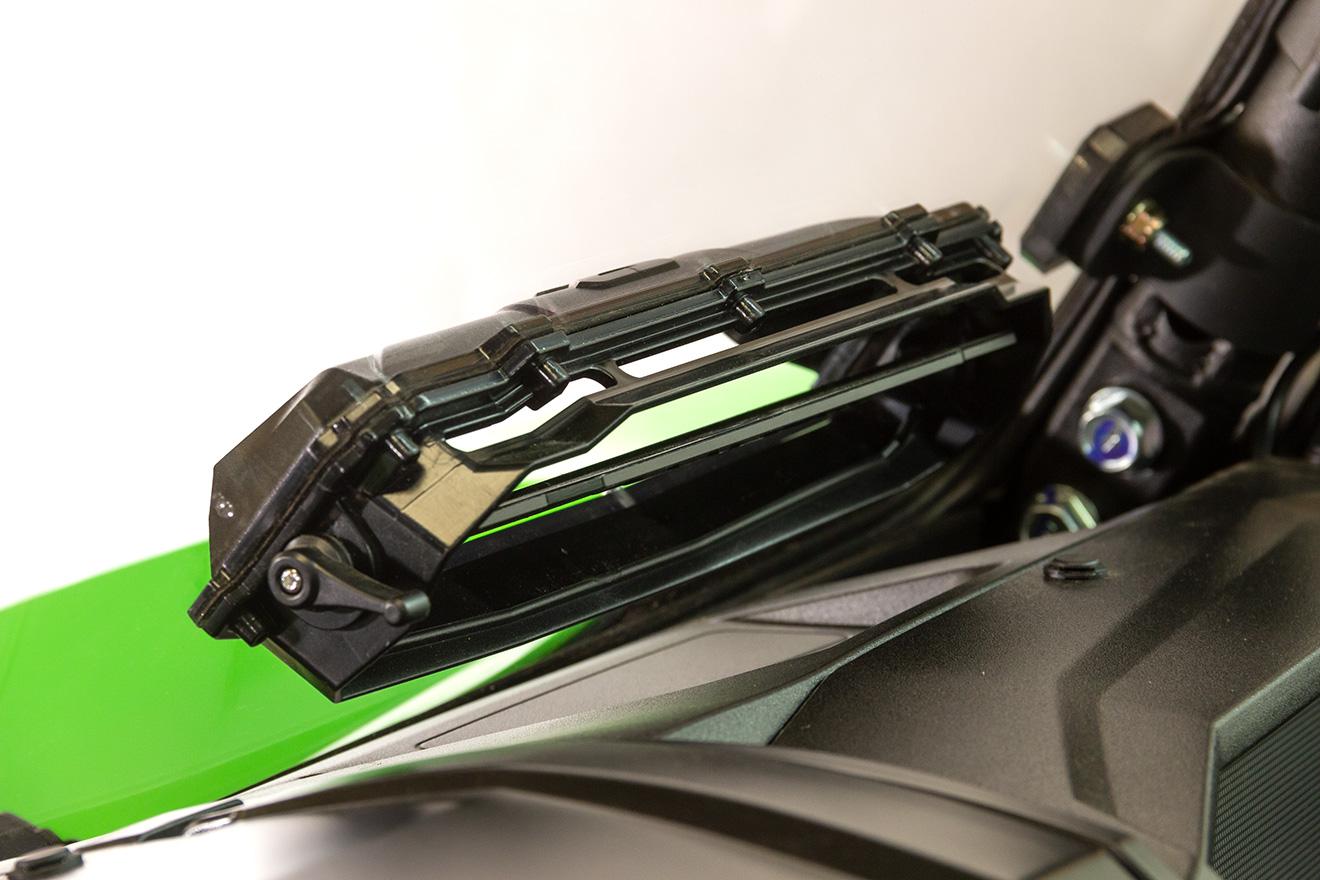 Windshield Versa Vent Hard Coated Poly Kawasaki Krx